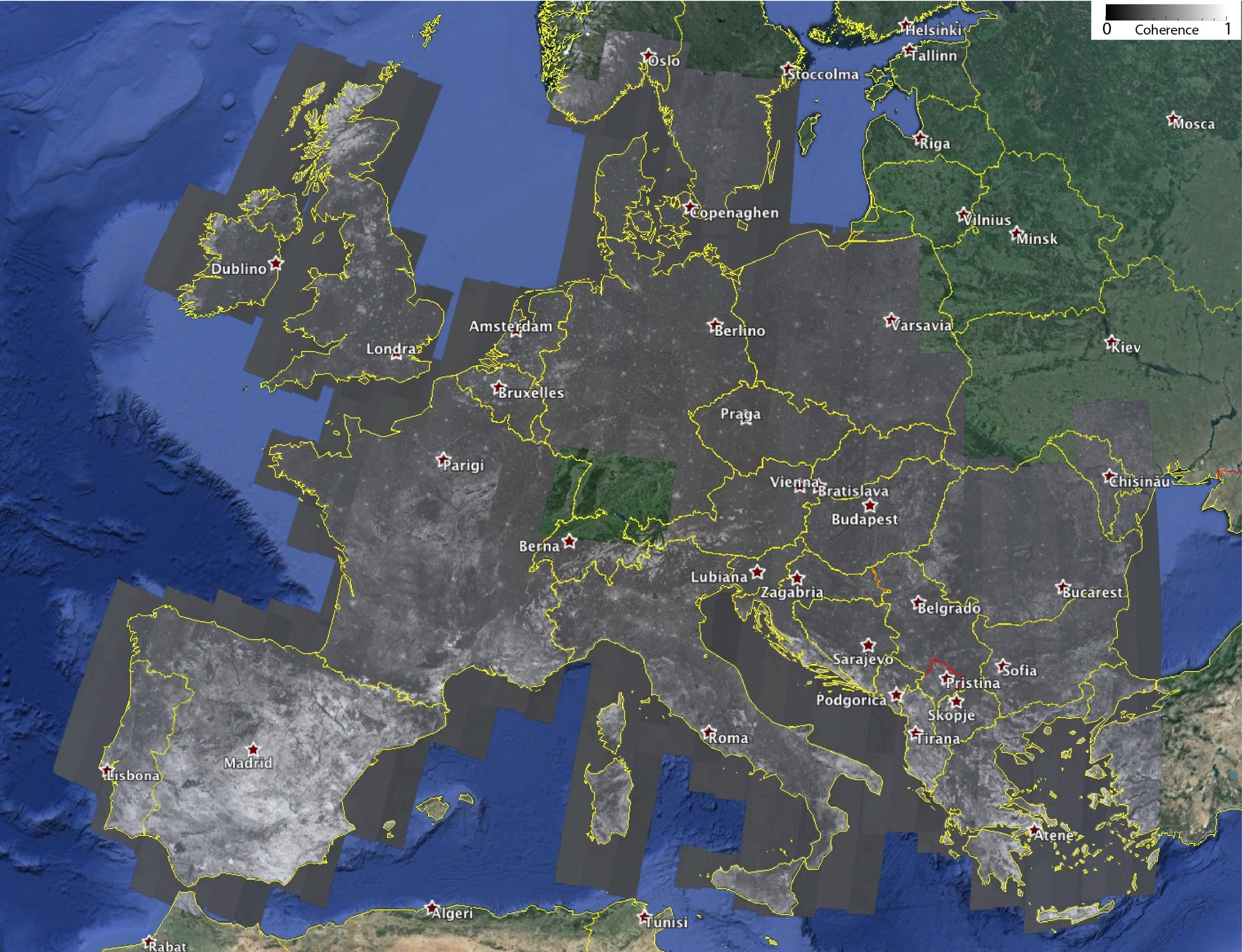 interferometric map of europe